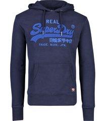 superdry hoody sweater navy