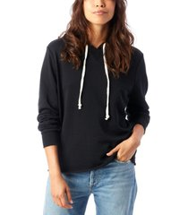 alternative apparel day off burnout french women's terry hoodie