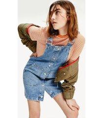 tommy hilfiger women's overall dress medium blue rigid - s