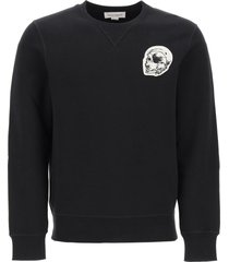 alexander mcqueen sweatshirt with skull patch