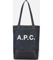 a.p.c. women's mini axelle tote bag - dark navy
