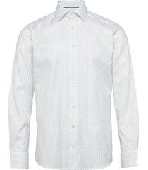 checked dobby shirt skjorta business vit eton