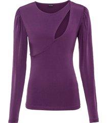 maglia a maniche lunghe con cut-out (viola) - bodyflirt
