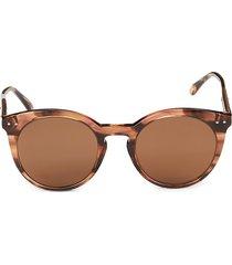 bottega veneta women's 51mm round sunglasses - havana