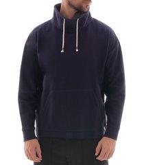armor lux col montant sweatshirt - navy 77641