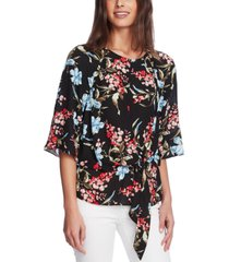 vince camuto tie-front keyhole top