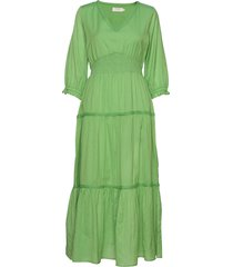 malandacr dress jurk knielengte groen cream