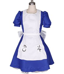 alice madness returns alice cosplay costume alice blue maid dress outfit