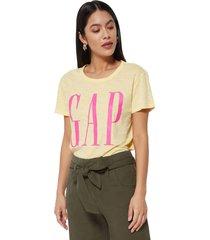 camiseta amarillo-rosa gap