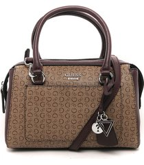 bolso beige-vinotinto guess