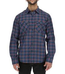 camisa m/l hombre brighton long sleeve azul oscuro burton