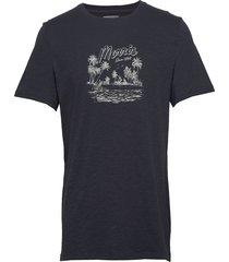 lamount tee t-shirts short-sleeved blå morris