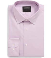 men's big & tall nordstrom men's shop traditional fit non-iron stretch dress shirt, size 19.5 - 38/39 - purple