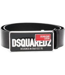 dsquared2 man red tag plaque belt