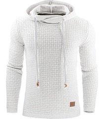 hombre sudadera con capucha para hombre ropa de chándal de algodón-blanco