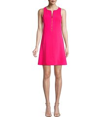 reef zip front shift dress