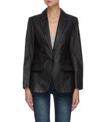 70s leather blazer