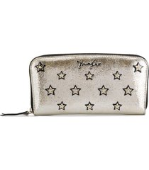 jimmy choo filipa star-studded long wallet - silver