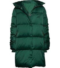 2nd puff gevoerde lange jas groen 2ndday