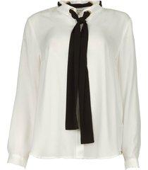 blouse met strikdetail bekiri  wit