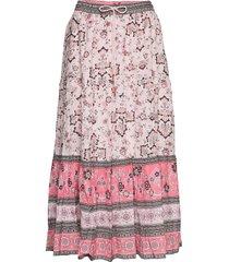 bohemic skirt knälång kjol rosa odd molly