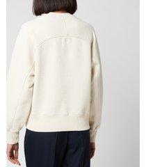 ami women's de coeur sweatshirt - off white - l