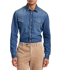 western denim sport shirt