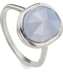 sterling silver siren medium stacking ring blue lace agate