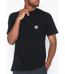 carhartt wip s/s pocket t-shirt t-shirts & linnen black
