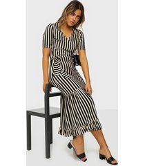 selected femme slfsabine 2/4 sleeve midi dress b loose fit dresses