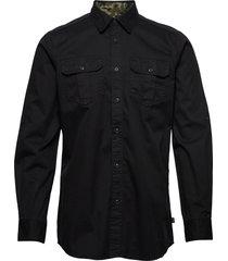 b.intl carving shirt skjorta casual svart barbour