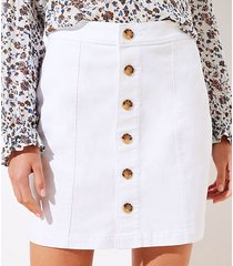 loft petite denim button down skirt