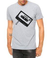 camiseta criativa urbana toca fita manga curta - masculino