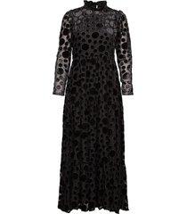 judy, 638 velvet devore maxi dress galajurk zwart stine goya