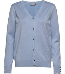 cardigan-knit light stickad tröja cardigan blå brandtex