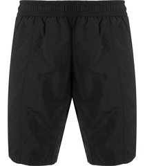 ami paris ami de coeur long swim shorts - black