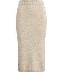 mouliné cashmere pencil skirt