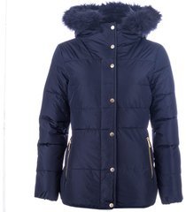 elle womens zoe down jacket size 16 in blue