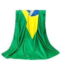 canga toalha de praia bandeira do brasil verde
