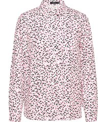 ladies blouse, pätkät overhemd met lange mouwen roze nanso