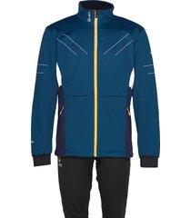 murto m xct softshell set outerwear sport jackets blauw halti