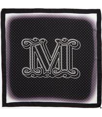 women's max mara aloejs2 monogram silk scarf