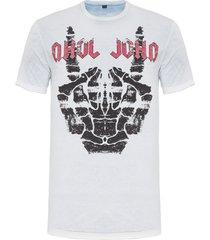 t-shirt masculina john bones - off white