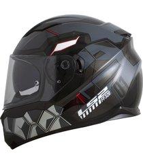 capacete ls2 ff320 stream angel cinza (viseira solar) ff320 stream ange - kanui
