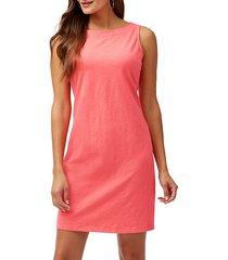 sleeveless jer-sea sheath dress