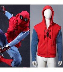 2017 cosplay spider-man homecoming inspired zipper hoodie spider zipper hoodie