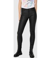 pantalón jacqueline de yong negro - calce ajustado