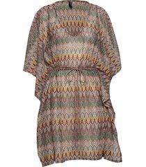 alba poncho kort klänning multi/mönstrad missya