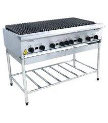 chapa grill industrial americana a gás venâncio cggp120 8q com cavalete