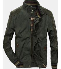 giacca da lavoro da uomo autunno-inverno in cotone puro con cuciture da lavoro